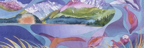 Abstract Watercolor Art From Alaskan Artist Dot Bardarson